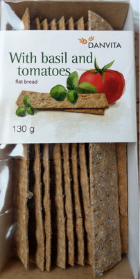 Danvita Flat Bread with Basil and Tomatoes - Product