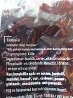 Tranbär - Ingrédients - sv