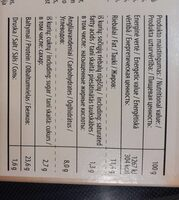 Grill Vegan Roast - Nutrition facts - fr