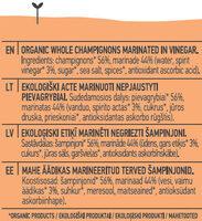 Champignons - Інгредієнти - en