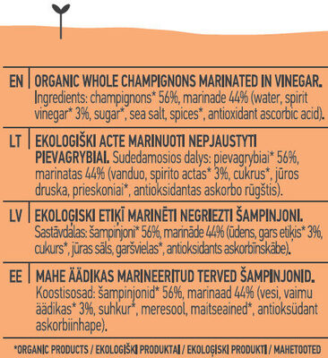 Champignons - Ingredients - en