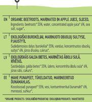 Beetroots in Apple Juice - Ingredients - en
