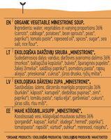 Minestrone Soup - Інгредієнти - lt