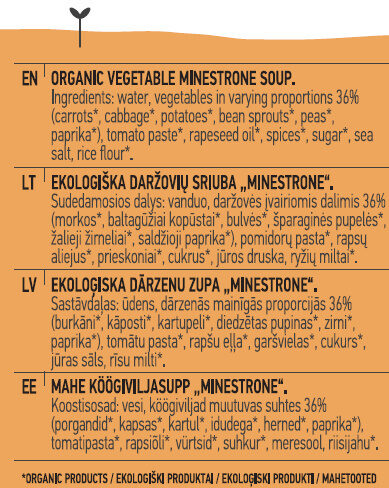 Minestrone Soup - Ingredients - lt