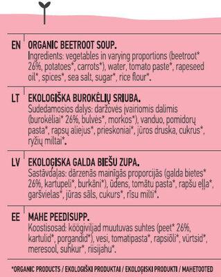 Beetroot Soup - Ingredients - en
