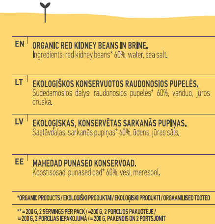 Red Kidney Beans - Ingredients - en