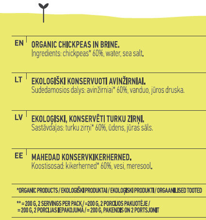 Chickpeas - Інгредієнти - en