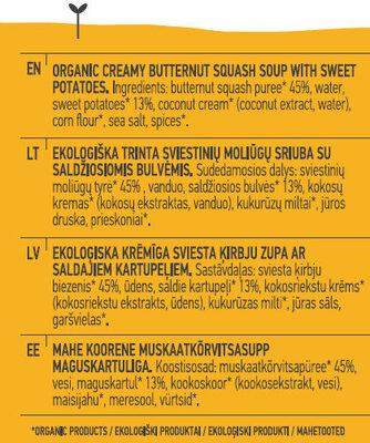 Butternut Squash Soup - Ингредиенты - en