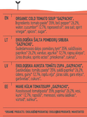 Gazpacho Cold Soup - Ingredients - en