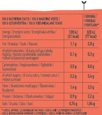 Gazpacho Cold Soup - Nutrition facts - en