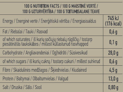 Ready-To-Eat Brown Lentils - Nutrition facts - en