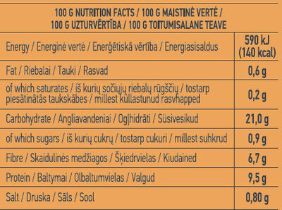 Ready-To-Eat Black Beans - Nutrition facts - en