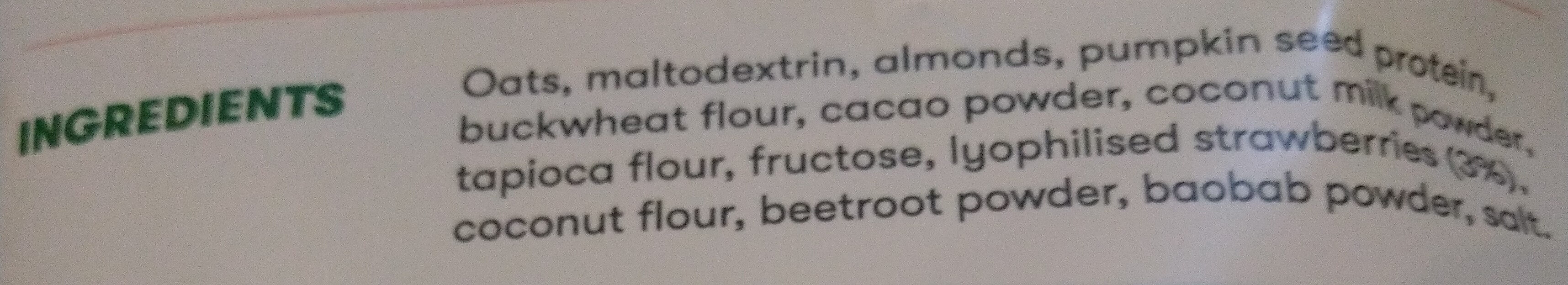 Foodious Strawberry - Ingrédients - en