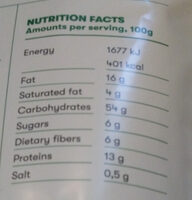 Foodious Strawberry - Informations nutritionnelles - en