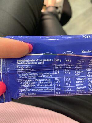 Cheatless Protein Bar - Nutrition facts - en