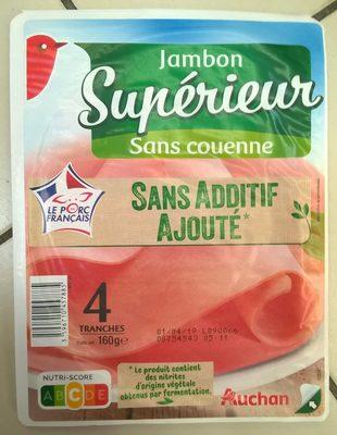 Jambon supérieur sans couenne sans additifs ajoutés - Produit