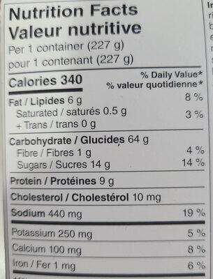 General Tao Chicken - Nutrition facts - en