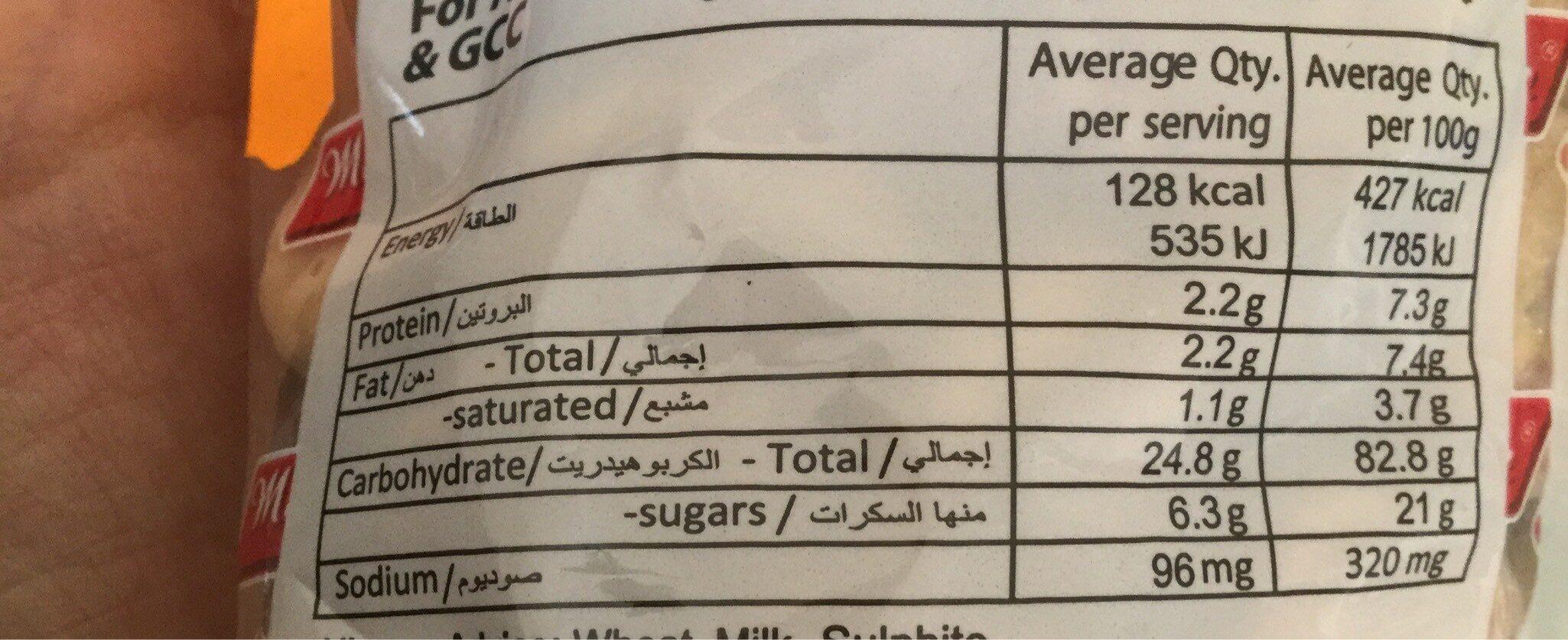Maliban Gem Biscuits - Informations nutritionnelles - fr