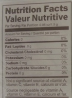 Slim Tea Acai Berry - Nutrition facts - en