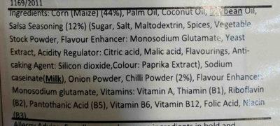 cheezy corn crunch - Ingredients - en