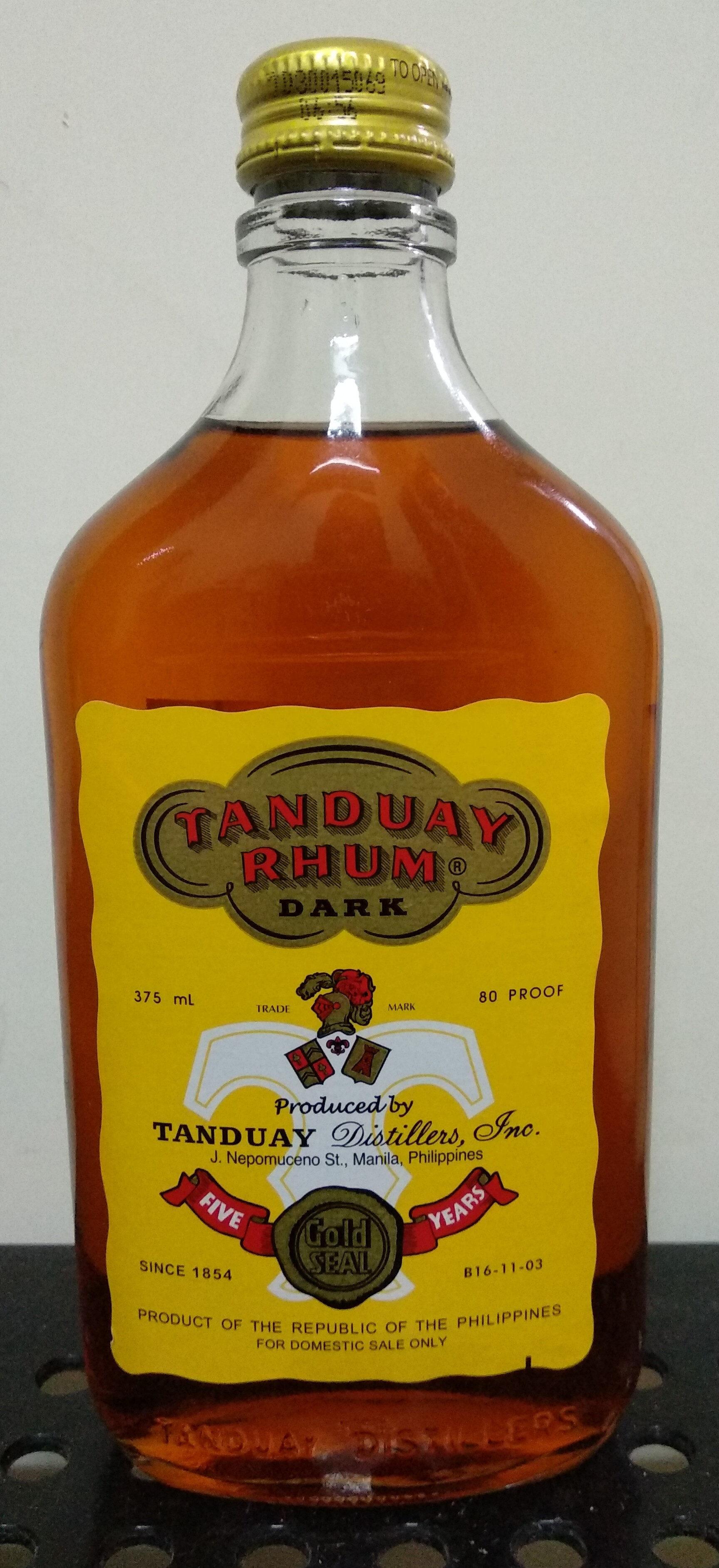 Tanduay Rhum Dark - Product - en