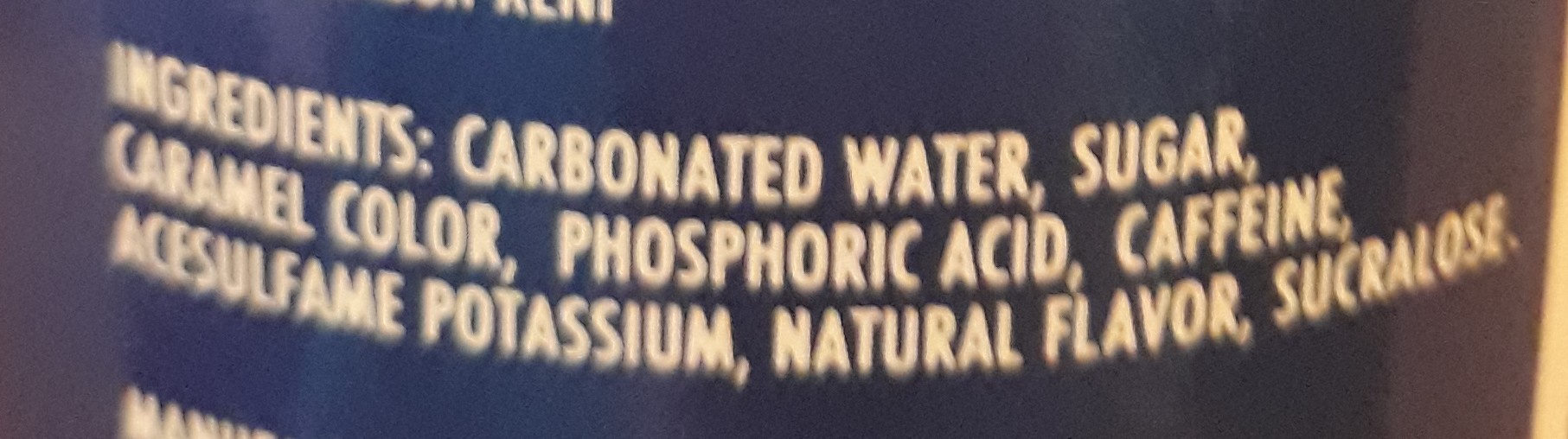 Pepsi - Ingredients - en