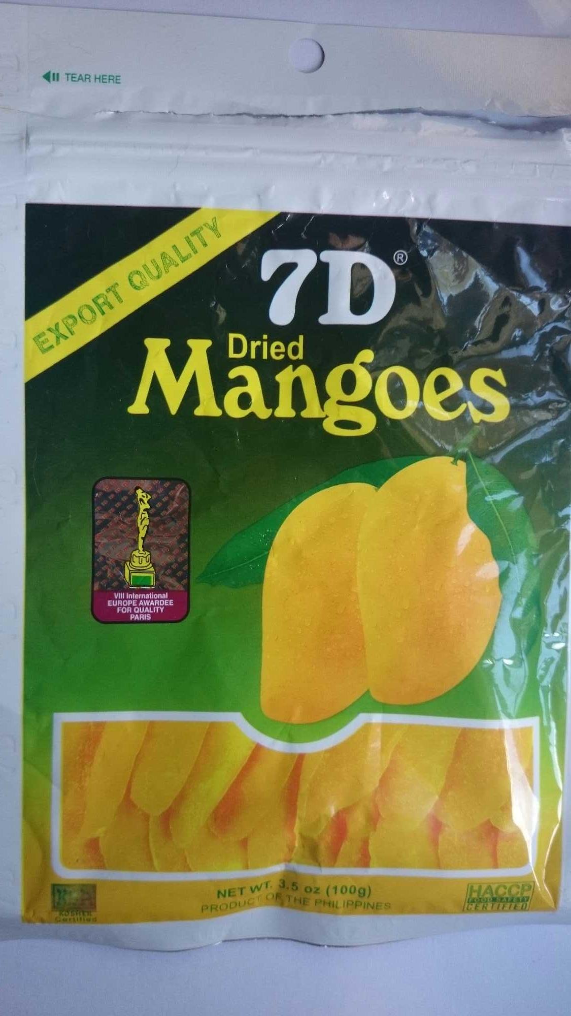 7D Dried Mangoes - Product - en