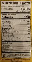 Dried Mangoes - Nutrition facts