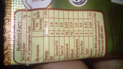 Coffeemate - Nutrition facts