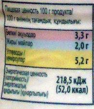 «Оптималь» без сахара - Informations nutritionnelles