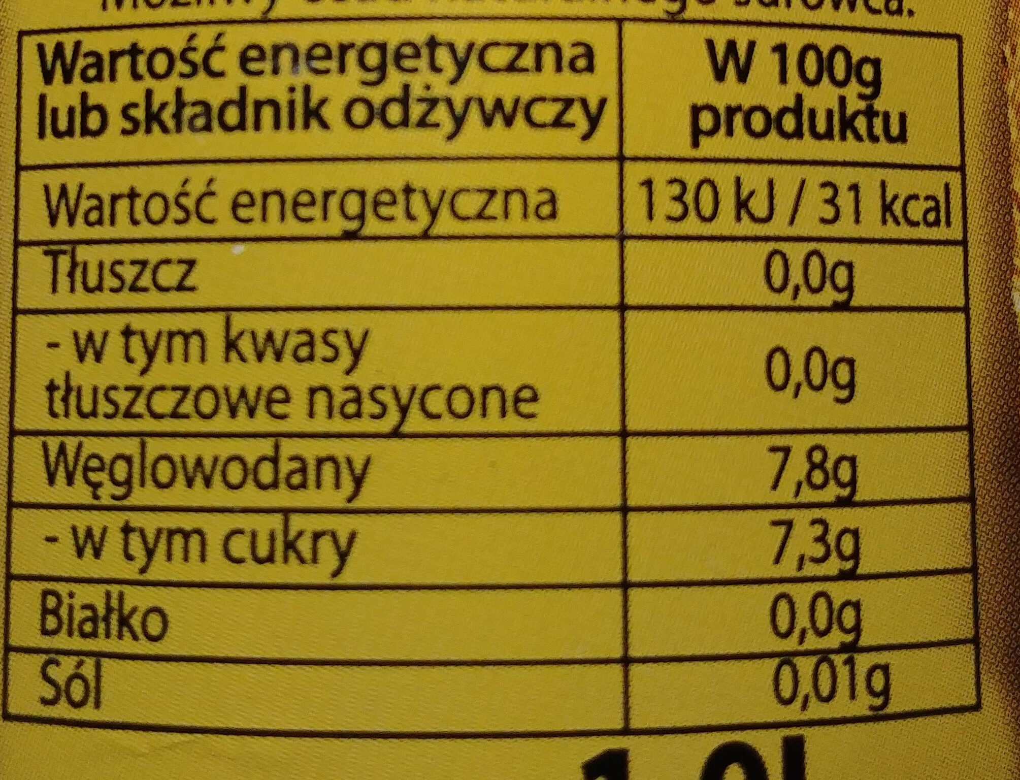 Kwas chlebowy Bohatyrski - Nutrition facts - pl