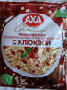Каша вівсяна миттєвого приготування з журавлиною - Produit