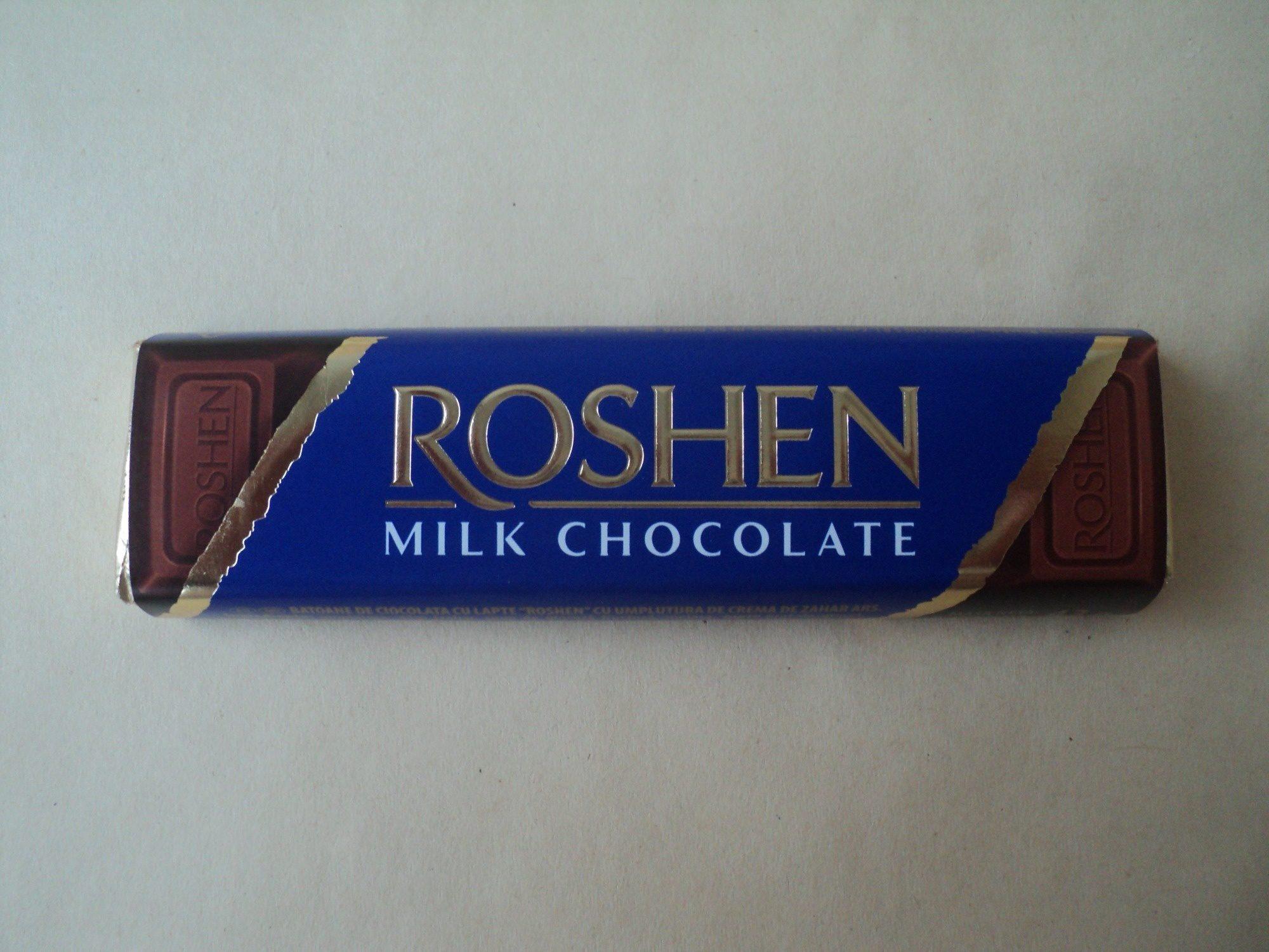 Roshen Baton de ciocolata cu lapte cu umplutura de crema de zahar ars - Product