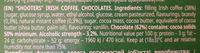 Irish coffee liqueur - Ingredients