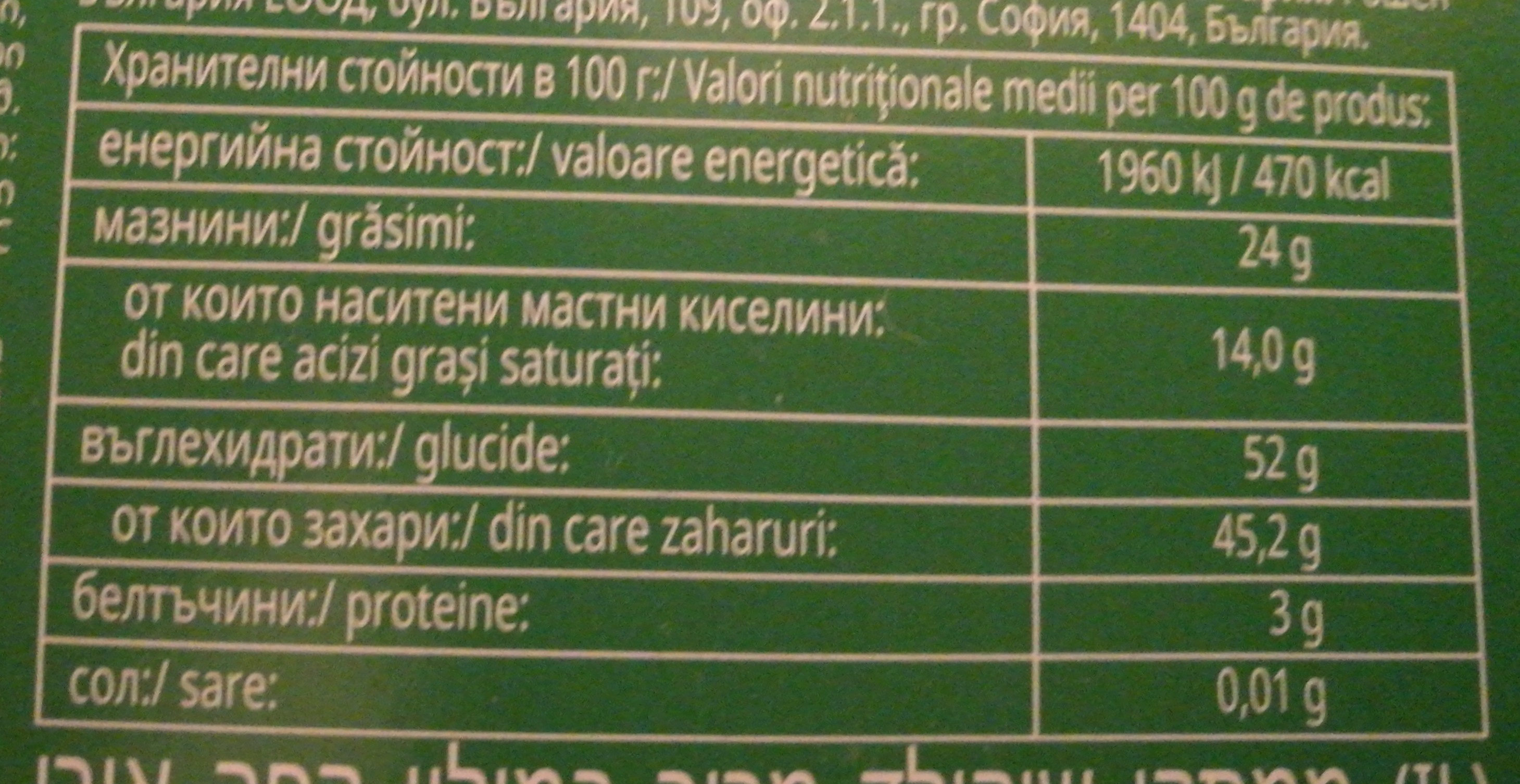 Shooters - Nutrition facts - en