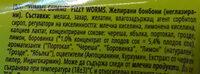 Yummi Gummi fizzy worms - Ingrediënten - en