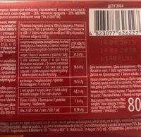 Roshen - Хранителна информация - en
