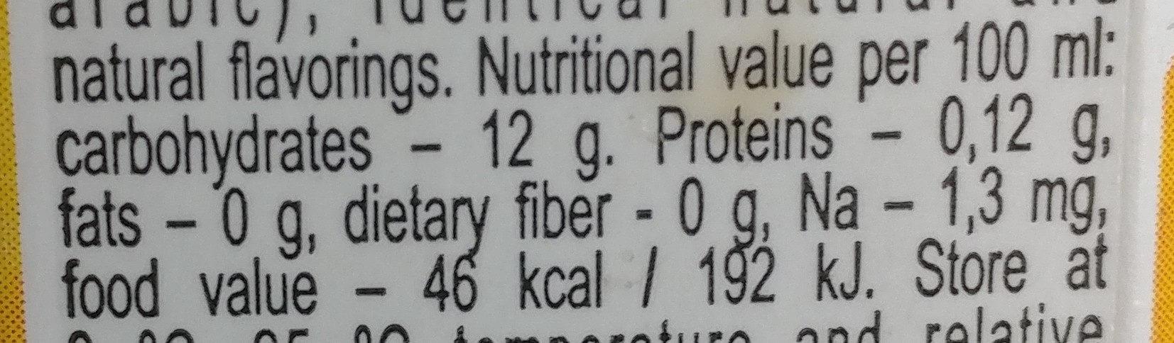mango - Valori nutrizionali - en