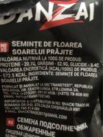Pipassol - Ingredients - fr