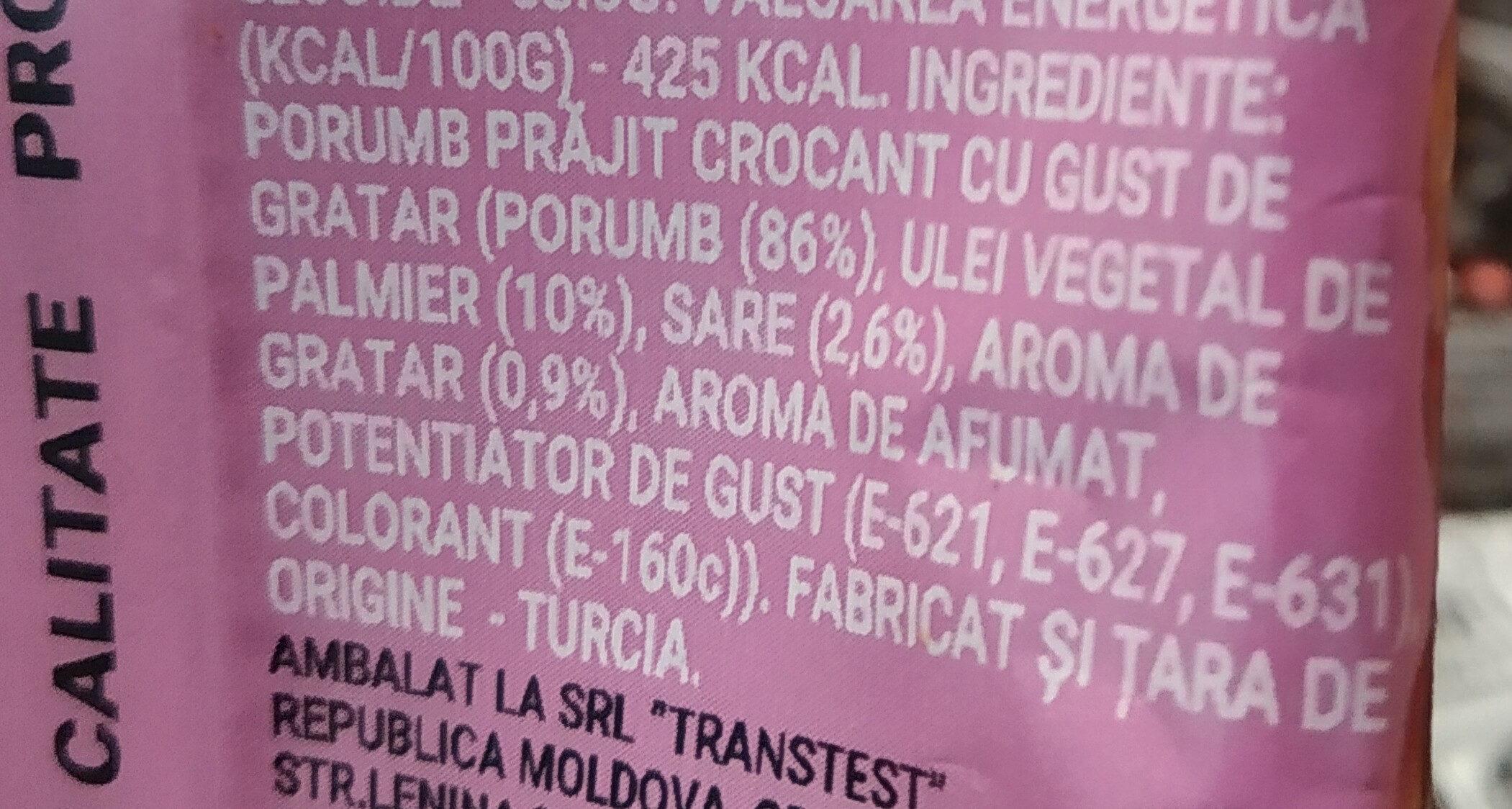 Porumb crocant prăjit - Ingredients - ro