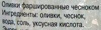 Оливки фаршинованные чесноком - Ингредиенты - ru