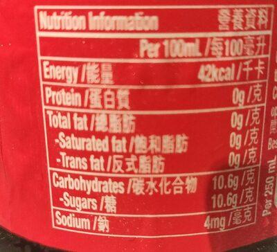 Coca-Cola 500ml - Voedingswaarden - fr