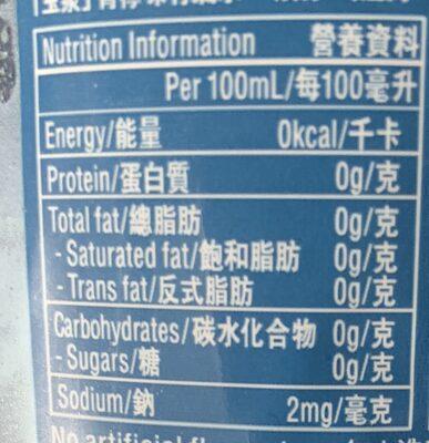Sparkling Water Lime Flavoured - Informations nutritionnelles - en