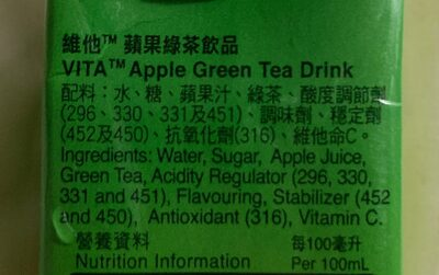 Apple Green Tea - Ingrediënten