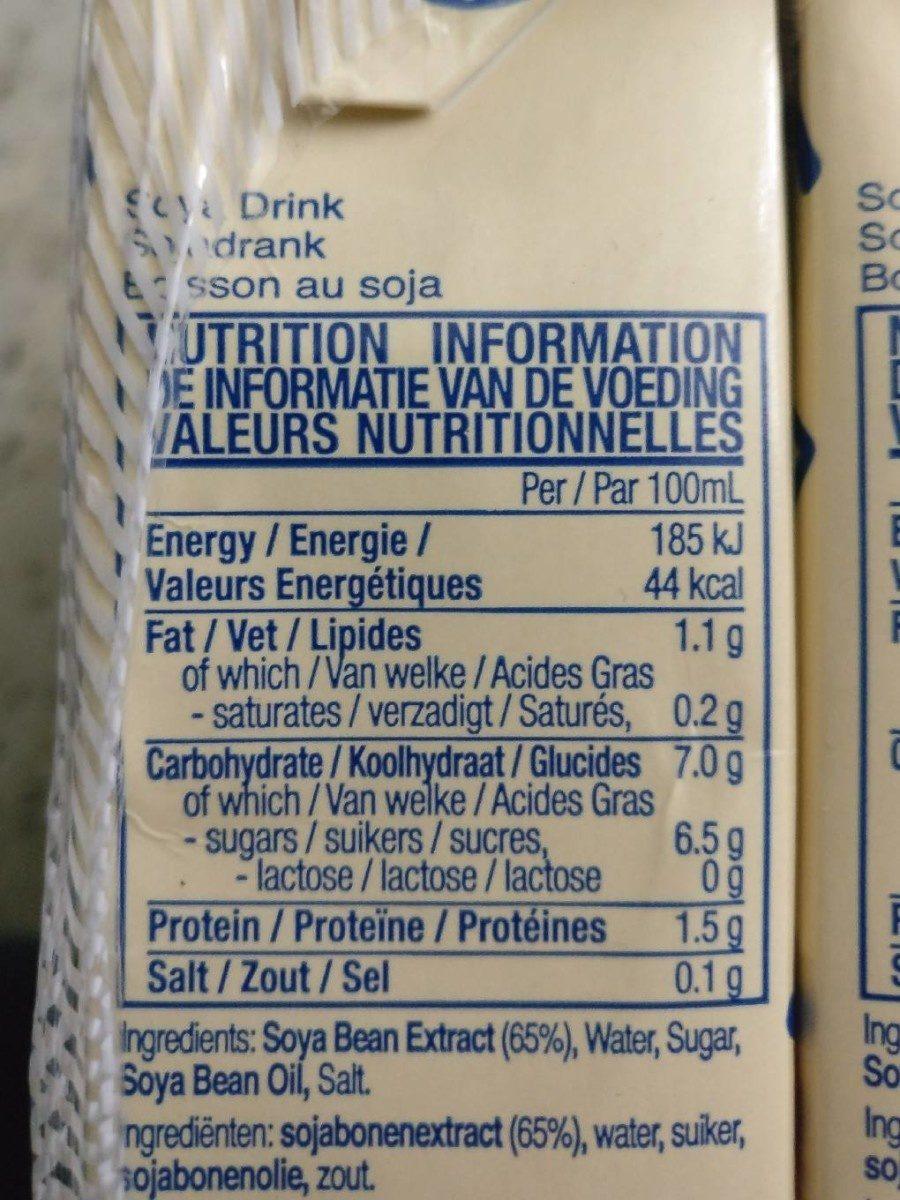 Vitasoy Soya Drink 250ML - Nutrition facts - fr
