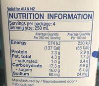 Soy Drink - Nutrition facts - en