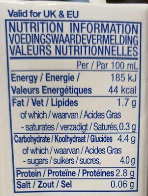 Vitasoy - Informations nutritionnelles - fr