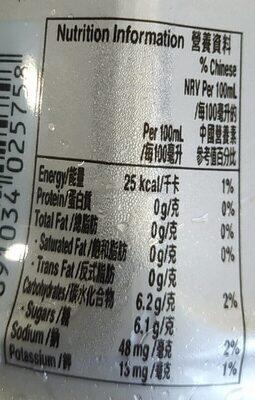 Gatotade Blueberry Flavor - 营养成分 - fr