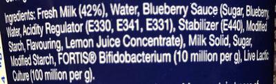 Acti-V Blueberry - Ingrediënten