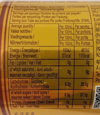 JiaDuoBao Herbal Tea - Nutrition facts